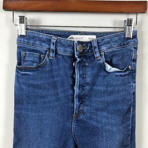 ASOS High waist button fly jean Sz 25